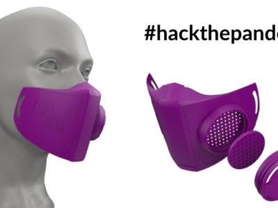 Copper 3D hackthepandemic 03 N95 mask
